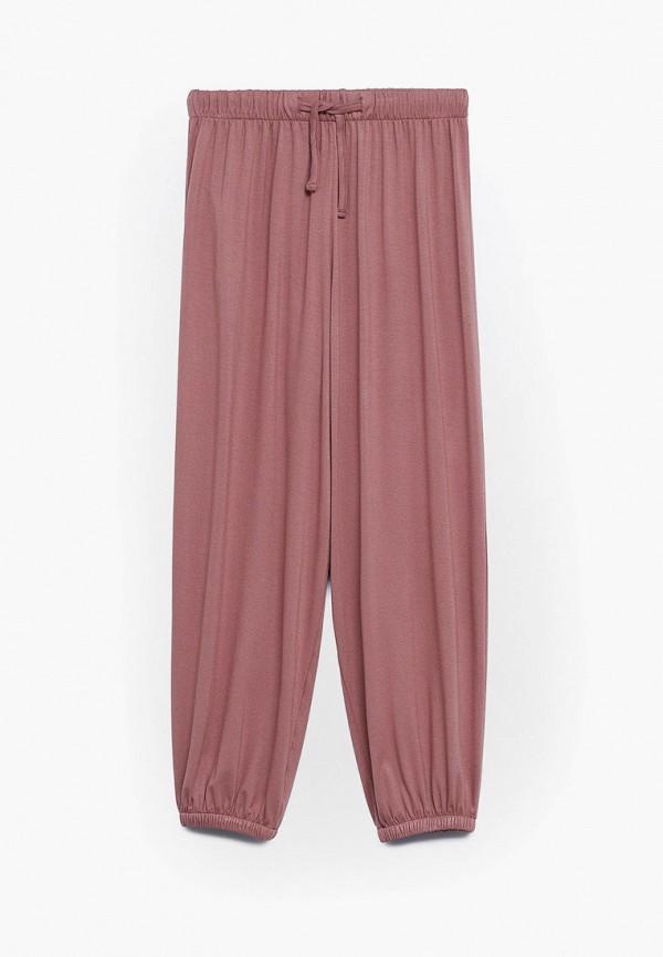 брюки mango kids для девочки, розовые