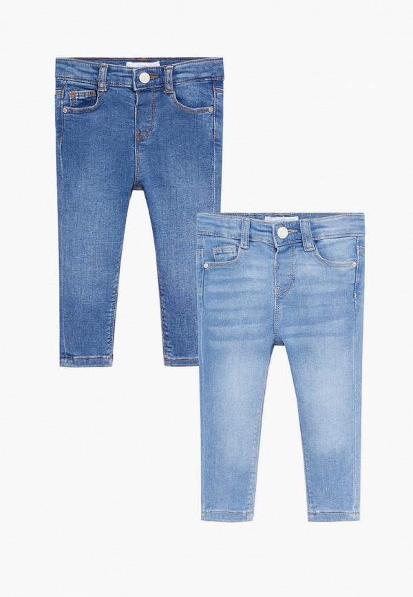 джинсы mango kids для девочки, разноцветные