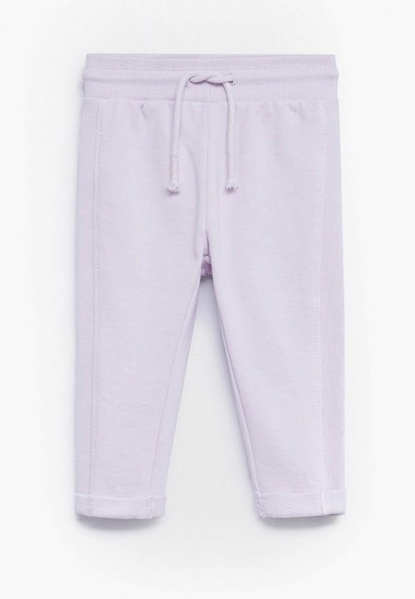 брюки mango kids для девочки, фиолетовые