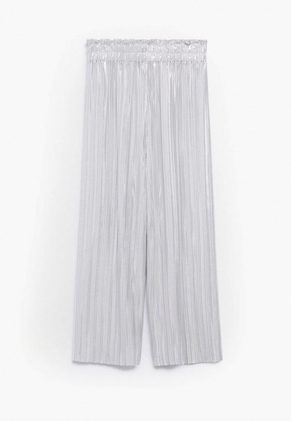 брюки mango kids для девочки, серебряные