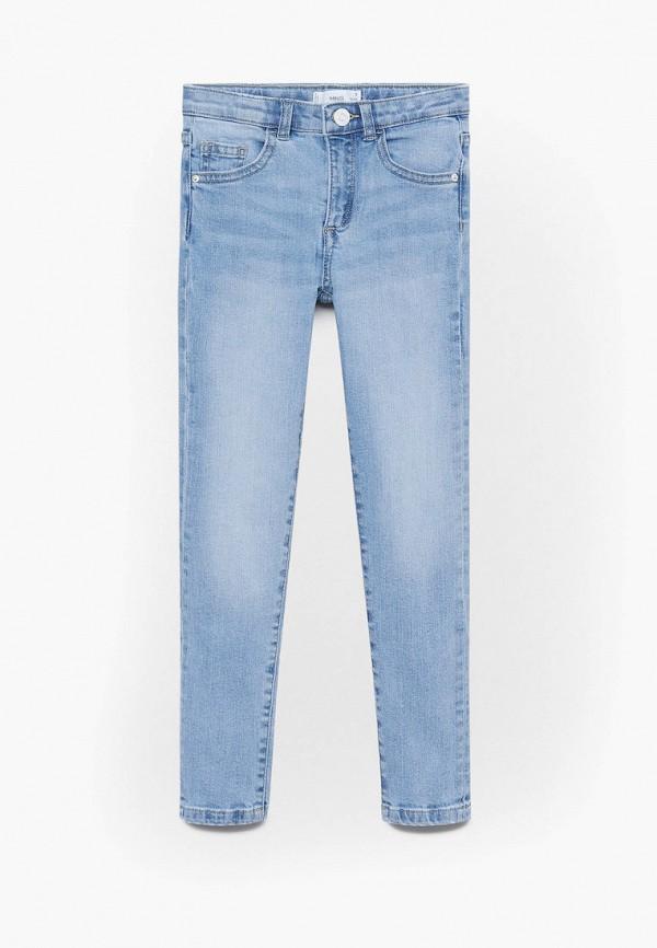 джинсы скинни mango kids для девочки, голубые