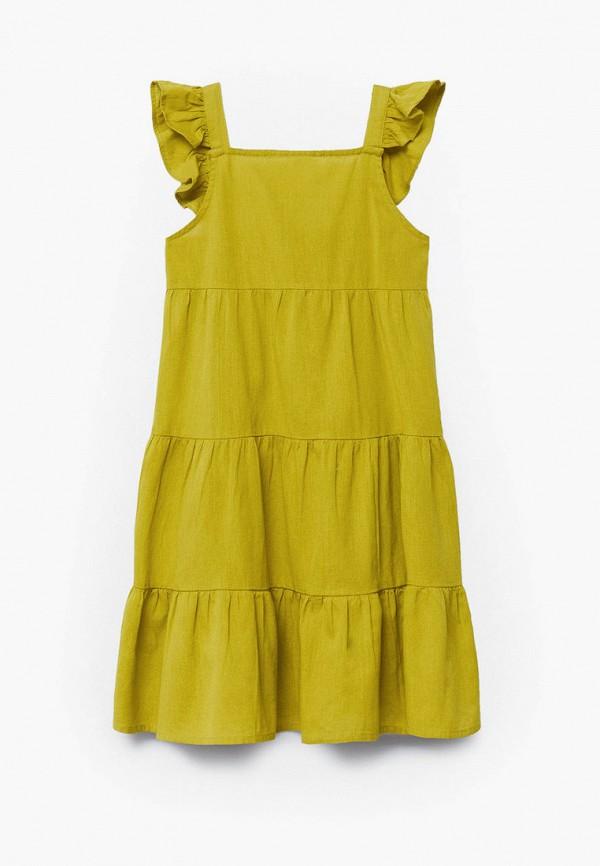 повседневные платье mango kids для девочки, зеленое