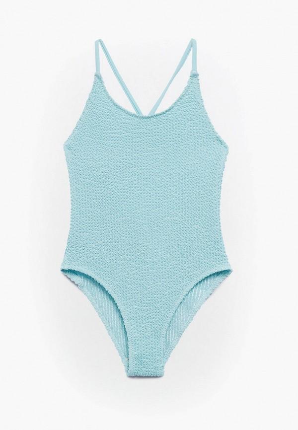 купальник mango kids для девочки, голубой