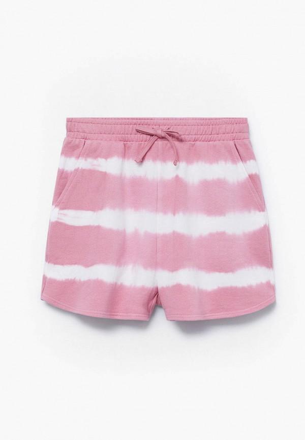 шорты mango kids для девочки, розовые