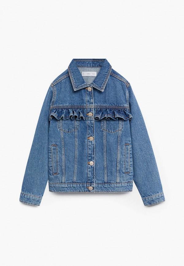 Куртка для девочки джинсовая Mango Kids 87064040