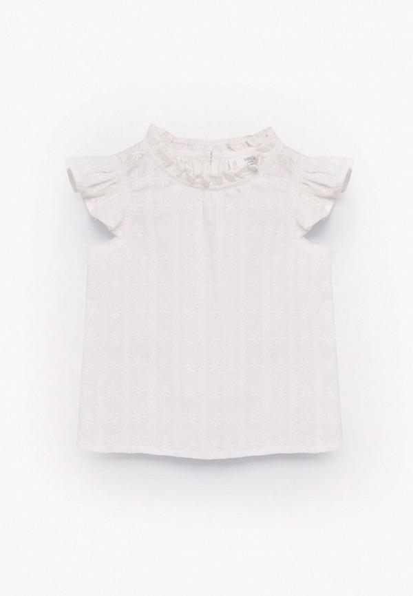 блузка mango kids для девочки, бежевая