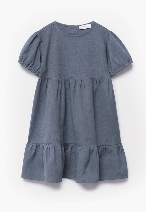 повседневные платье mango kids для девочки, серое