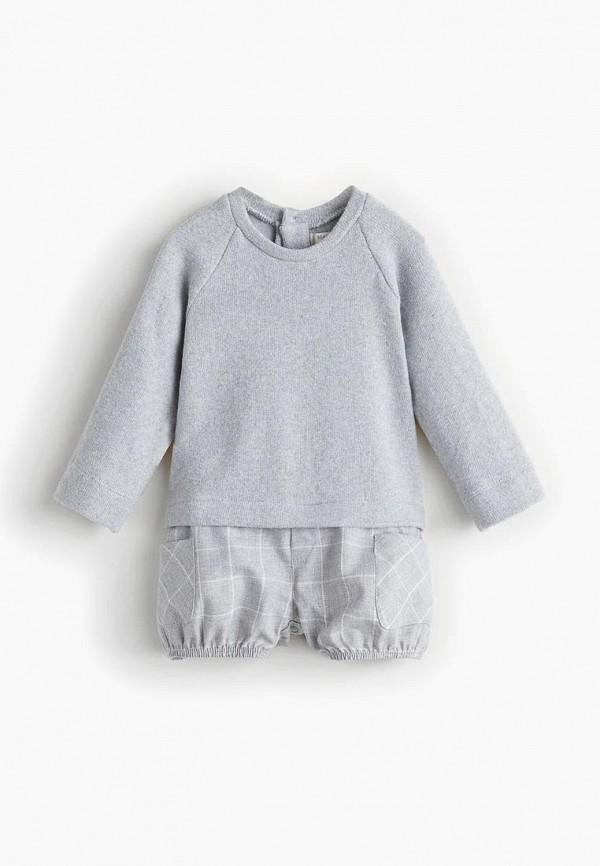 Купить Комбинезон Mango Kids, - MANUT, MA018EKCOLY3, серый, Осень-зима 2018/2019