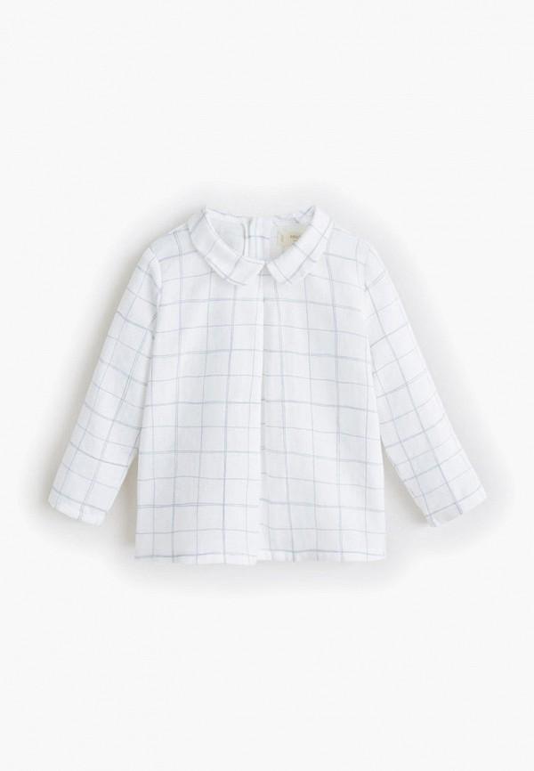 Фото - блузку или рубашку для девочки Mango Kids белого цвета