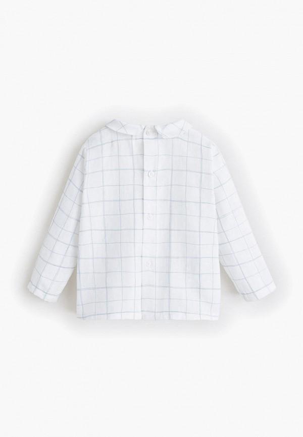 Фото 2 - блузку или рубашку для девочки Mango Kids белого цвета