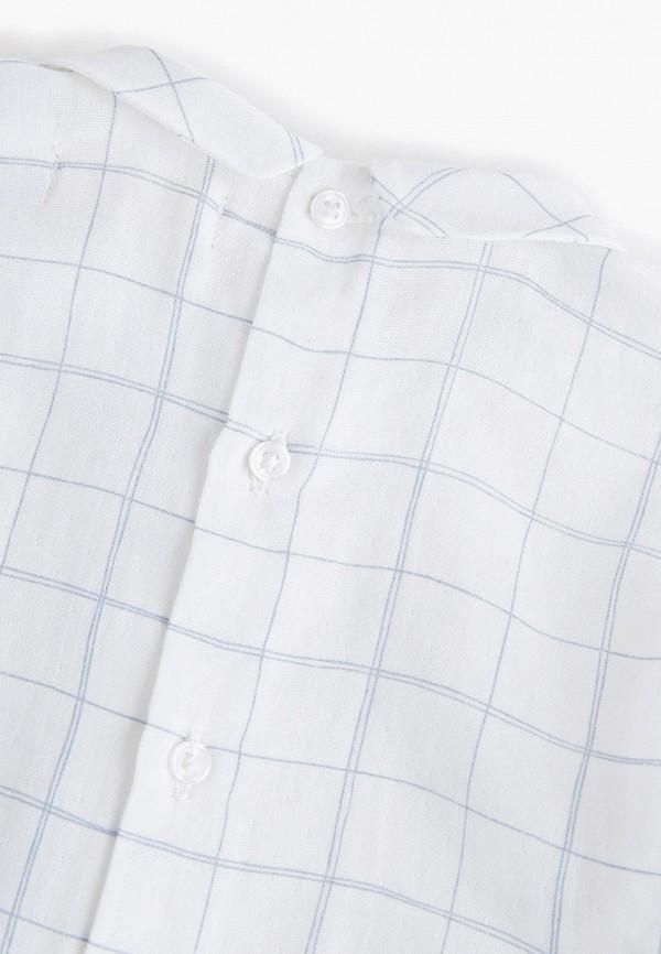 Фото 3 - блузку или рубашку для девочки Mango Kids белого цвета