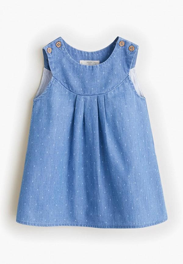 повседневные платье mango kids малыши, синее