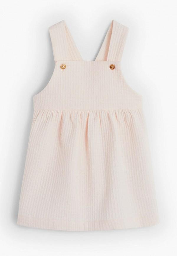 повседневные платье mango kids малыши, розовое
