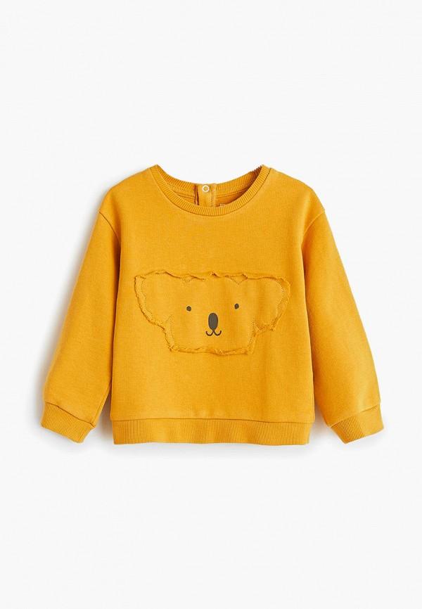 свитшот mango kids малыши, желтый