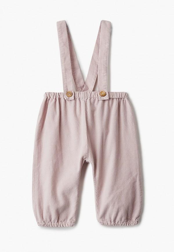 брюки mango kids малыши, розовые