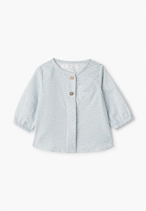 рубашка mango kids малыши, голубая