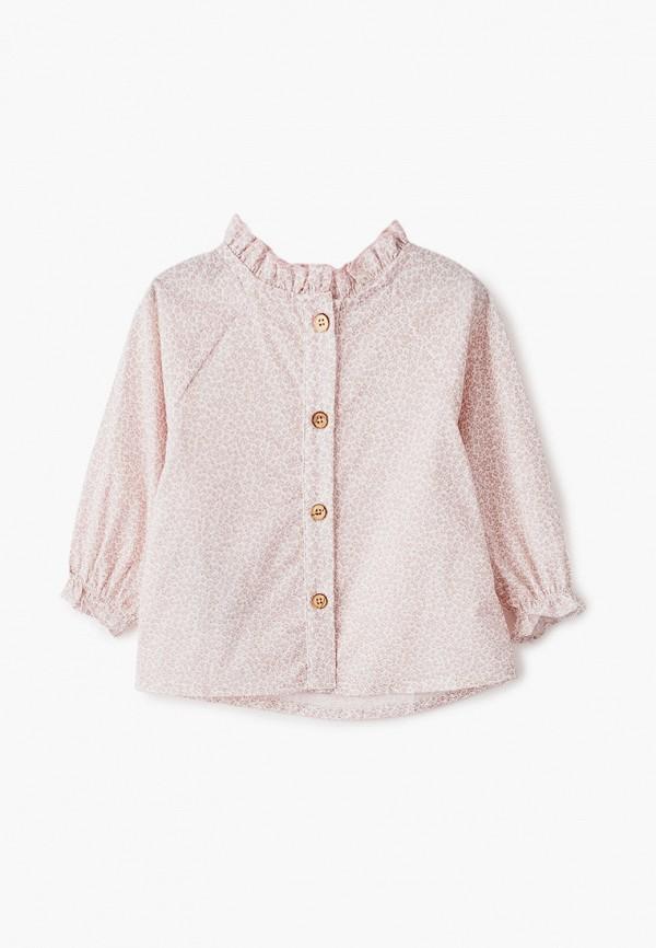 блузка mango kids малыши, розовая
