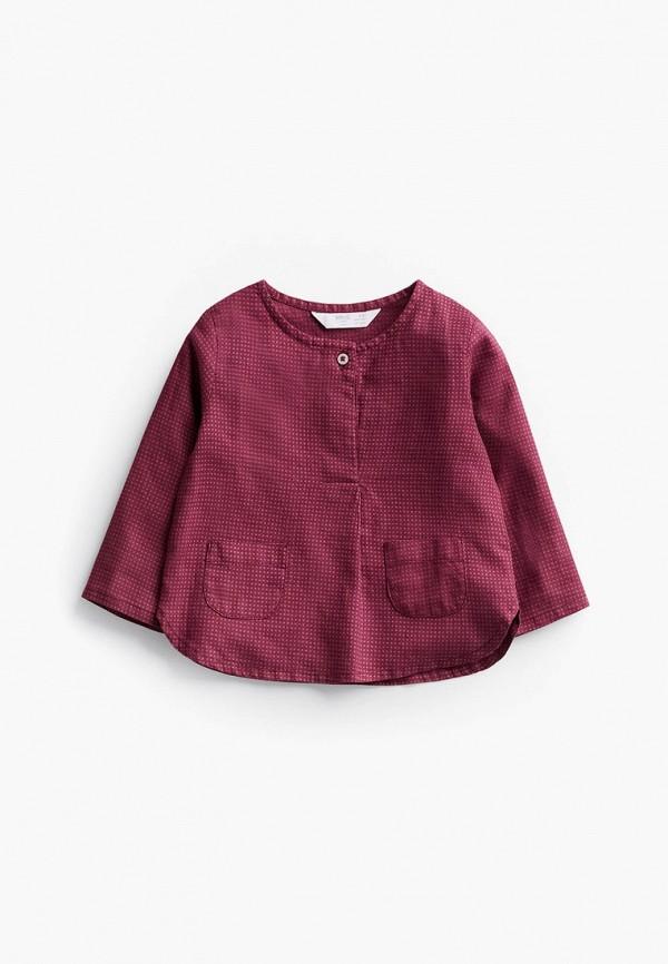 рубашка mango kids малыши, бордовая
