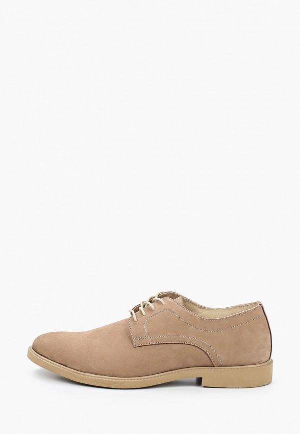мужские туфли-дерби matt nawill, бежевые