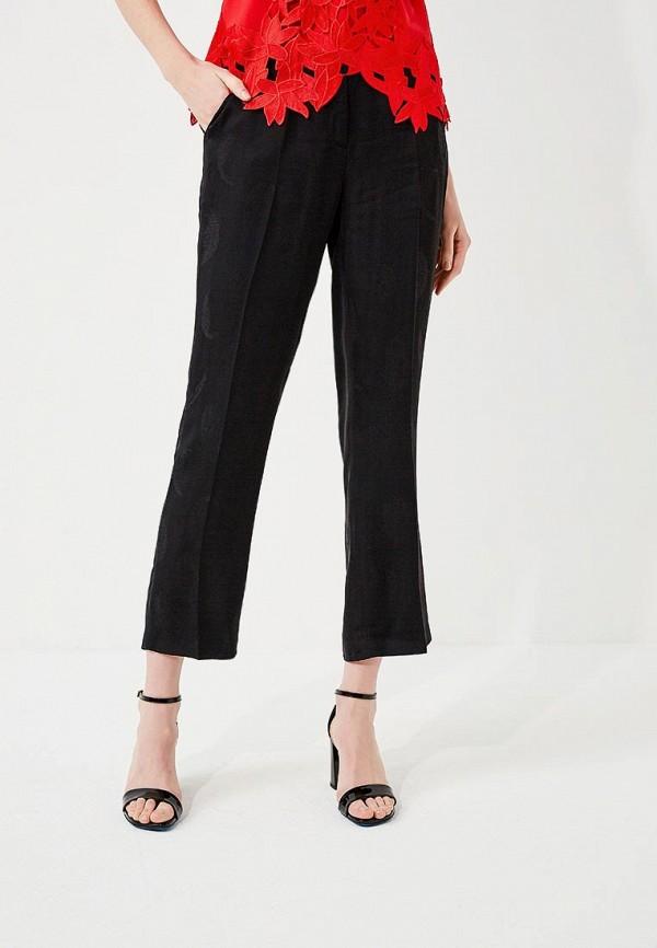 женские прямые брюки guess by marciano, черные