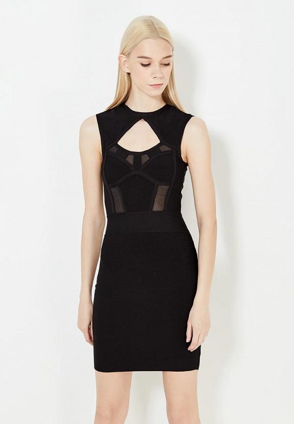 женское вечерние платье guess by marciano, черное