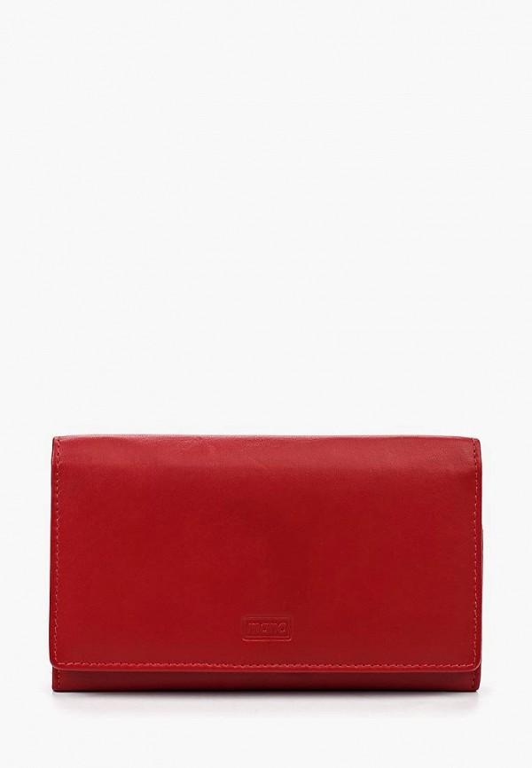 женский кошелёк mano, красный