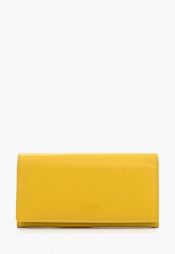 женский кошелёк mano, желтый