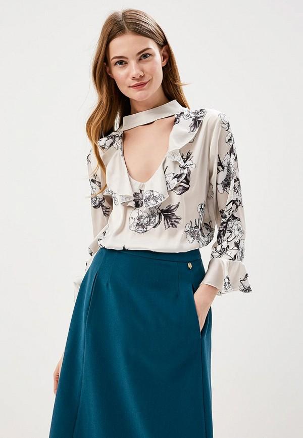 Купить Блуза Massimiliano Bini, ma093ewamnp5, бежевый, Весна-лето 2018