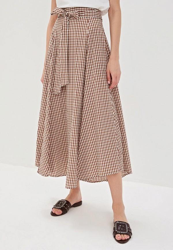 женская юбка massimiliano bini, коричневая