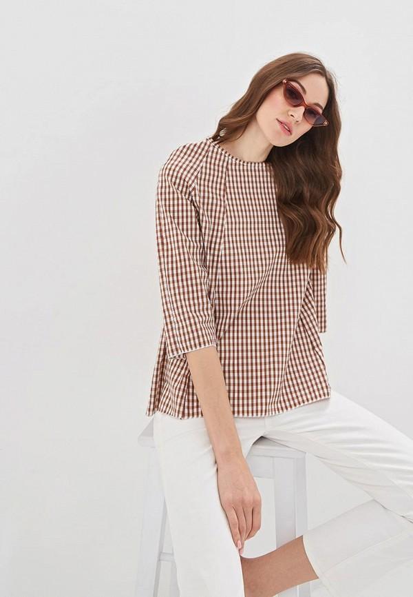 женская блузка massimiliano bini, коричневая