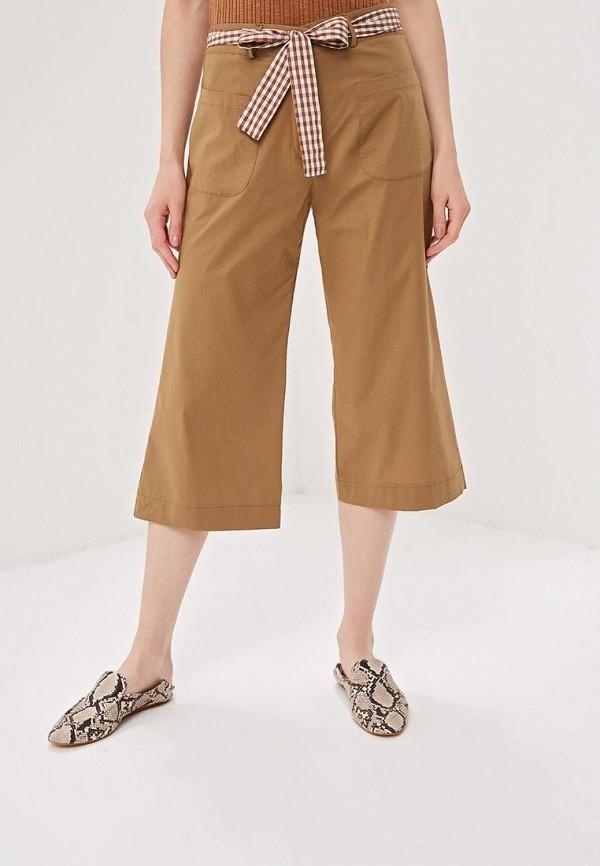 женские повседневные брюки massimiliano bini, коричневые
