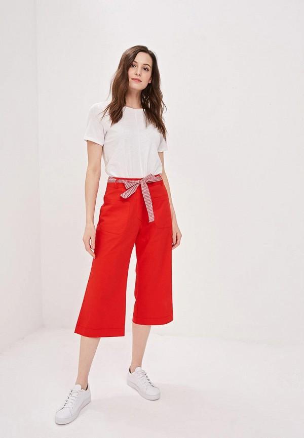 Фото 2 - женские брюки Massimiliano Bini красного цвета