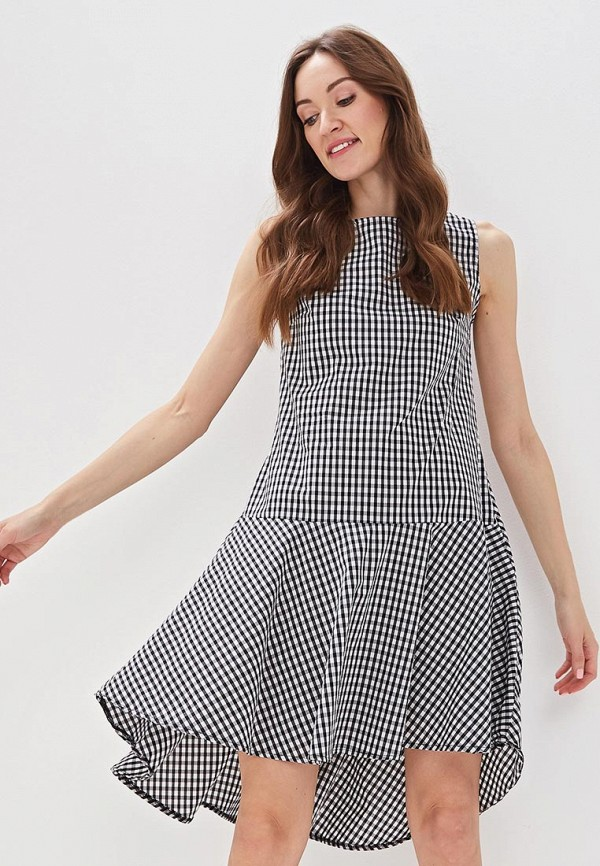 Фото - женское платье Massimiliano Bini серого цвета