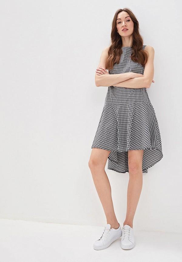 Фото 2 - женское платье Massimiliano Bini серого цвета