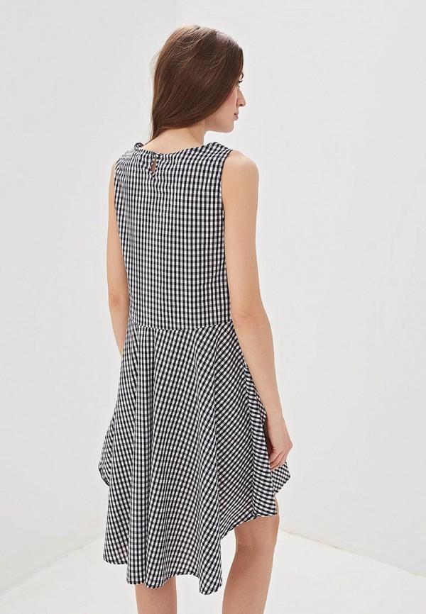 Фото 3 - женское платье Massimiliano Bini серого цвета