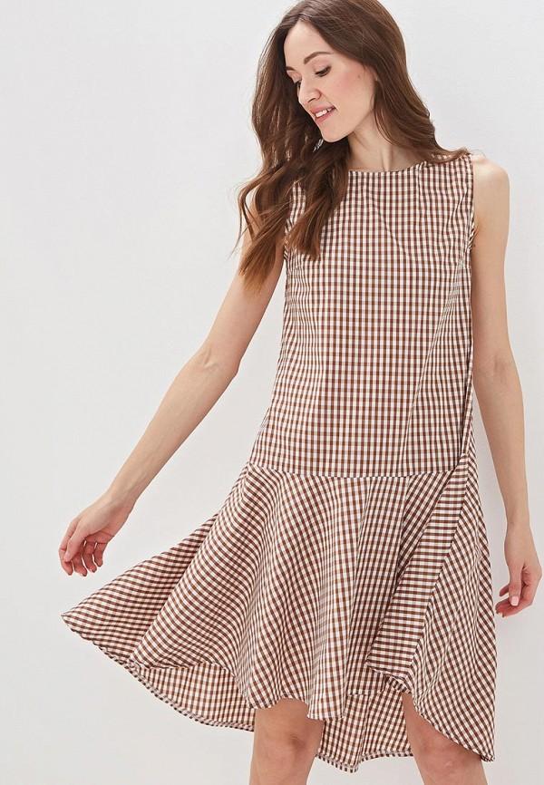 Фото - женское платье Massimiliano Bini коричневого цвета
