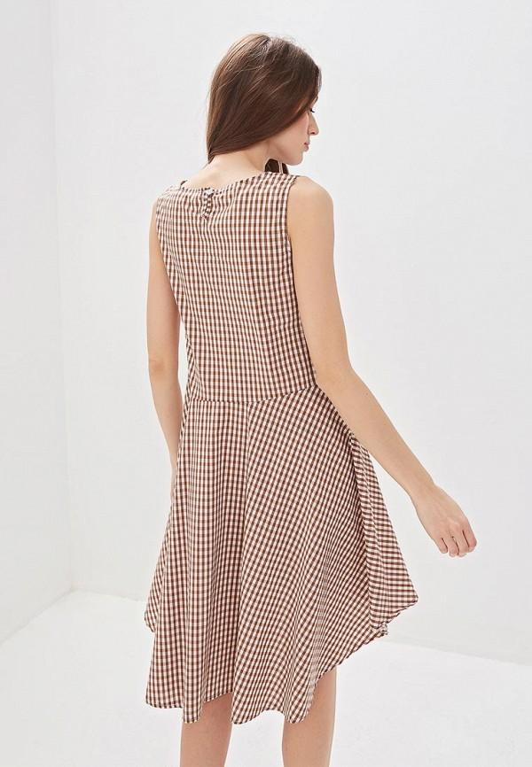 Фото 3 - женское платье Massimiliano Bini коричневого цвета