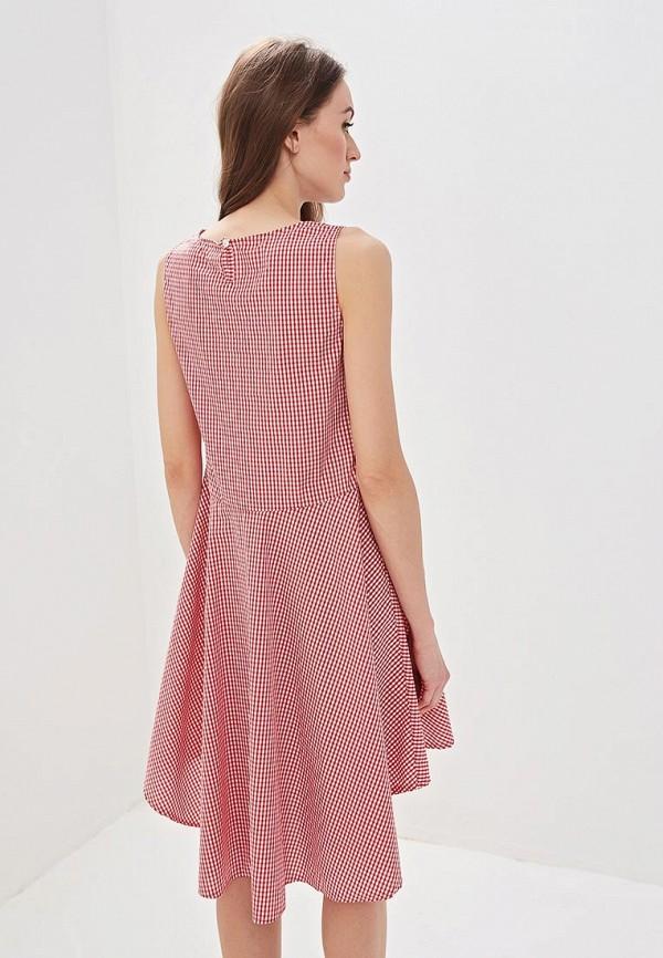 Фото 3 - женское платье Massimiliano Bini красного цвета