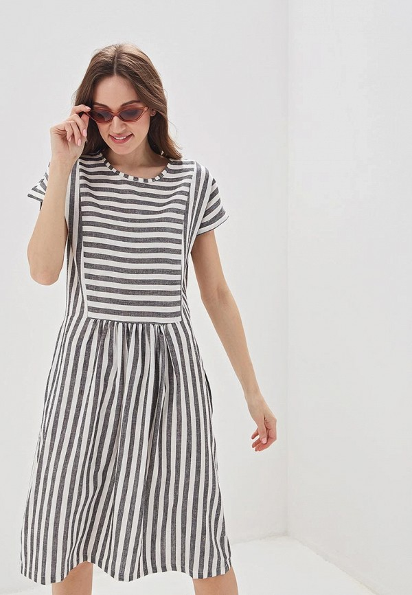 женское повседневные платье massimiliano bini, серое