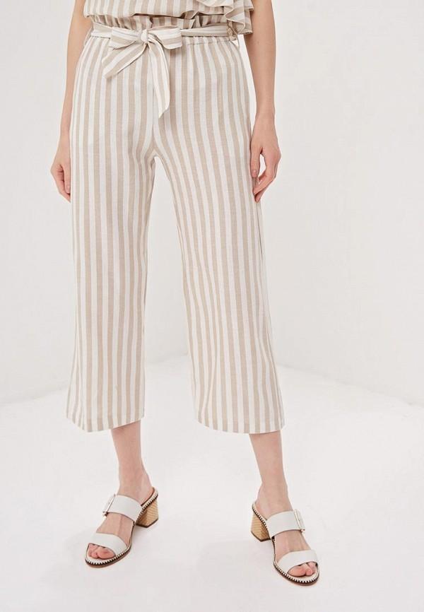 женские повседневные брюки massimiliano bini, бежевые