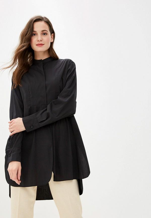 женская рубашка с длинным рукавом massimiliano bini, черная