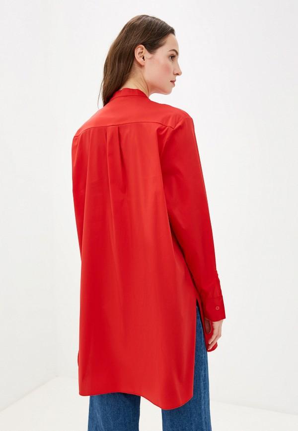 Фото 3 - женскую рубашку Massimiliano Bini красного цвета