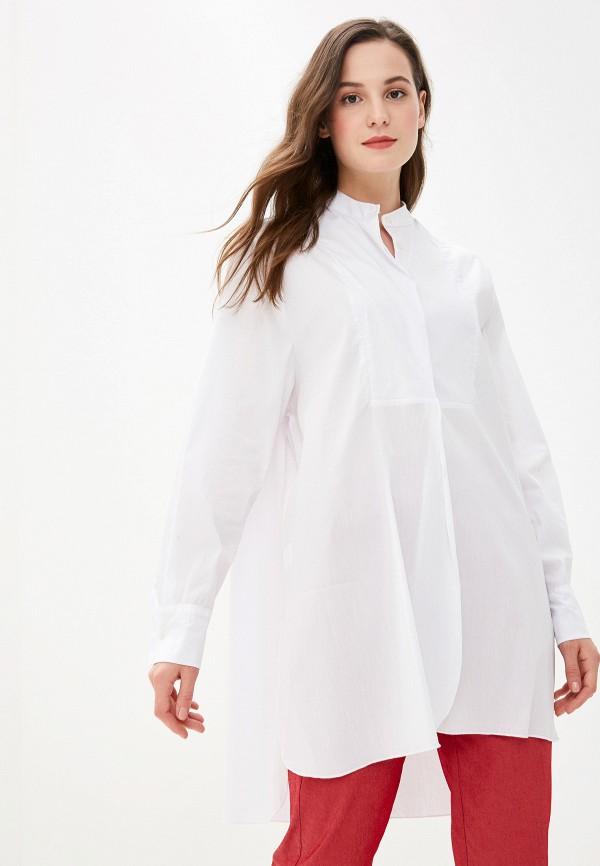 женская рубашка с длинным рукавом massimiliano bini, белая