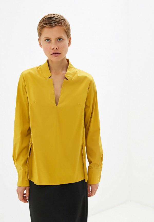 женская блузка massimiliano bini, желтая