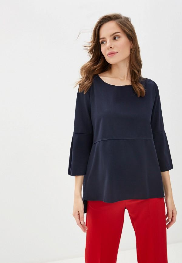 женская блузка massimiliano bini, синяя
