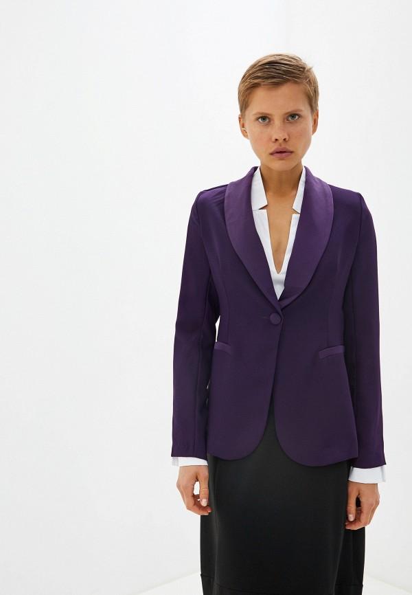 женский пиджак massimiliano bini, фиолетовый