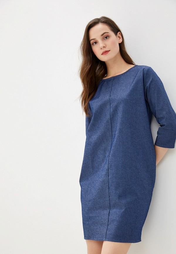 женское джинсовые платье massimiliano bini, синее