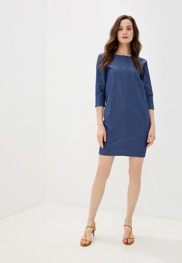 Фото 2 - Платье джинсовое Massimiliano Bini синего цвета