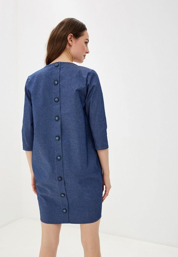 Фото 3 - Платье джинсовое Massimiliano Bini синего цвета
