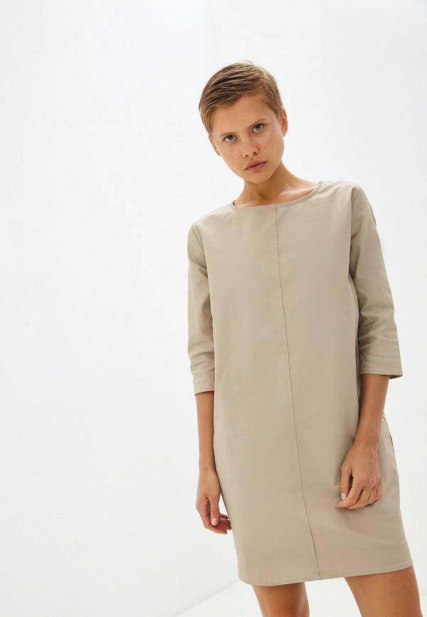 женское повседневные платье massimiliano bini, бежевое